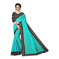 CRAFTSTRIBE Indian Traditional Bollywood Party Wear Dress Fashion Women Wedding Wear Chanderi Cotton Saree