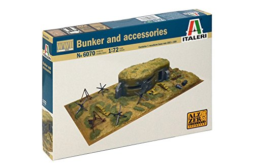 Italeri 510006070 - 1:72 WWII - Zubehörteile und Bunker (Bunker)