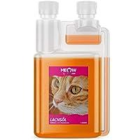 Meow - LACHSÖL 1000 ml - für Katzen - Barf Ergänzung - Omega 3 - kaltgepresst - unterstützt Fellglanz - Aufbau der Gelenke - 100% Natürlich - reines Naturprodukt