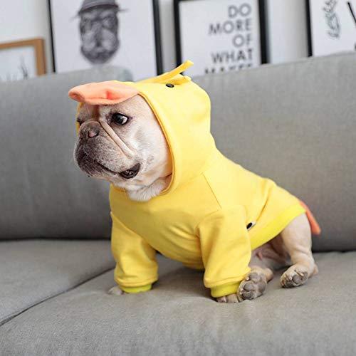 Lustige Kostüm Bulldogge Französische - FGDSSE Hündchen kleidet Chihuahua-Mantel-Hut-französische Bulldoggen-lustiges Kostüm
