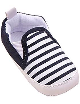 De bebé suave YICHUN de rayas de niños de zapatos de baile para Prewalker de cuna diseño de zapatos con material...
