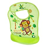 MagiDeal Baby Weiches Lätzchen mit auffangschale einfach zu reinigen, einstellbarem Halsband, BPA frei, Farbwahl - Stil 16