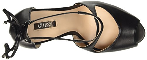 Guess Leather Open Toe, Scarpe con Tacco Donna Nero