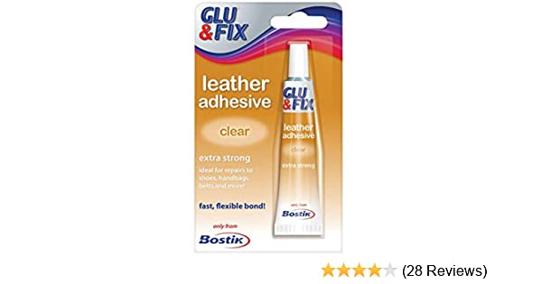 Bostik Leather Clear Adhesive 20Ml Extra Strong Waterproof for Shoes Handbags