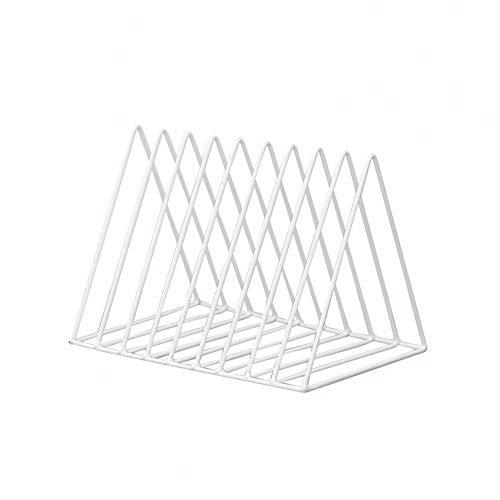 Scrox 1x Revistero Vertical Fabricado en Metal Revistero Decorativo Estantería para Cuarto de baño, Oficina, recibidor (Blanco)