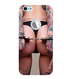 ifasho Designer Back Case Cover for Apple iPhone 6S (Logo View Window Case) (Design Candles Girls Ear Phones)
