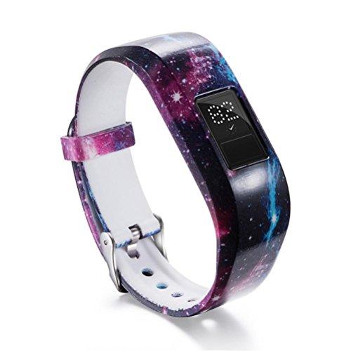 samLIKE Armband   für Garmin Vivofit Jr/Jr 2   Weiches Silikon   Uhrenarmband   Kinder Fitness   180MM (❤️ F)
