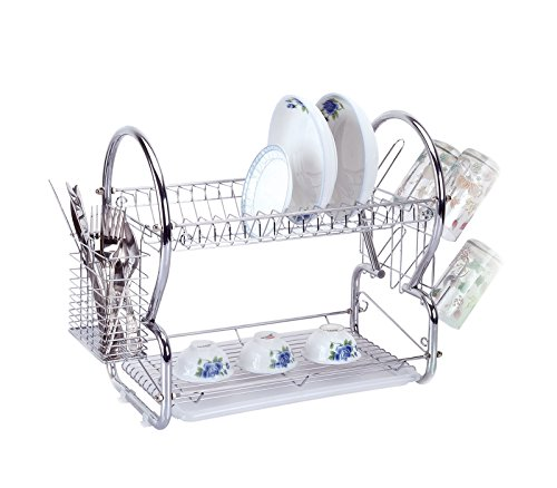HIGH QUALITY CHROME PLATED FINISH DISH DRAINER ELITE PRO 9OO Series - REGULAR SIZE