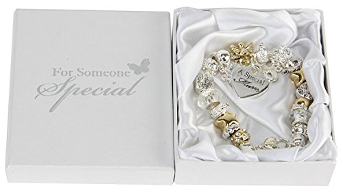 Juliana Gold Silver Charm Bracelet With Special Mum