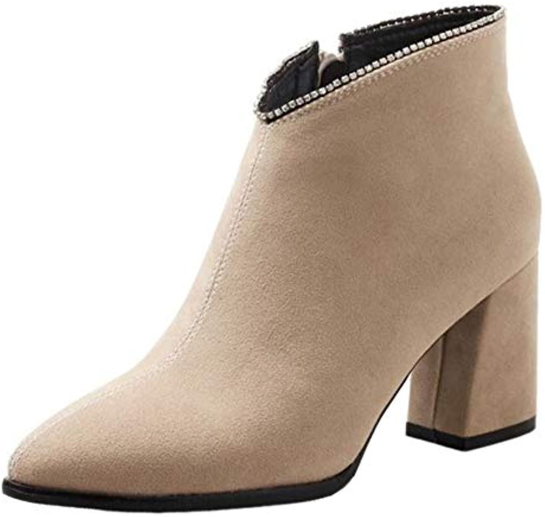 6132f8bfbe1608 SJJH Women Women Women Ankle Chelse Boots B07H7PJ31C Parent a40581 ...