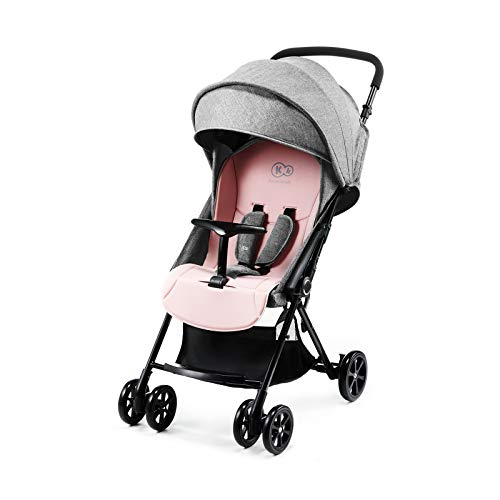 Kinderkraft Kinderwagen Baby LITE UP Liegebuggy Sportwagen drehbare Vorderräder verstellbarer Griff stufenlose Einstellung der Rückenlehne schnelles Zusammenklappen Rosa