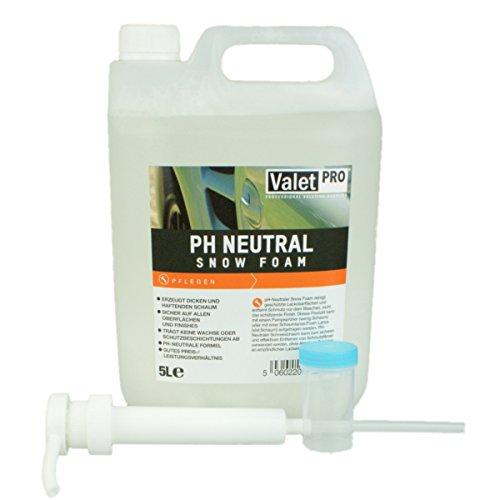 Preisvergleich Produktbild ValetPRO pH Neutral Snow Foam Vorwäsche Shampoo 5 Liter inkl. Dispenser und DFT Messbecher