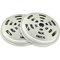 Support Acier Inoxydable pour Citronnelle Anti Moustique, Citronnelle Spirale Boîte en Métal - Boîte avec Couverture pour Moustique Bobines - Lot de 2