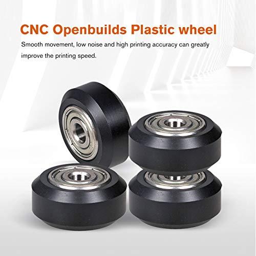 WOSOSYEYO 10 STÜCKE CNC Openbuilds Kunststoff Rad POM mit Großen Passiven Runden Rad Perlin Rad für V-Nut C-Strahl 3D Drucker Teile