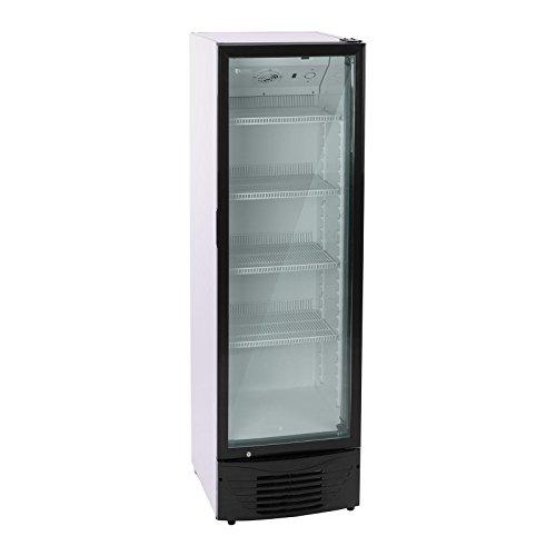 Royal Catering Flaschenkühlschrank Getränkekühlschrank mit Glastür RCGK-B320 (320 L, 210 W, 4 Einlagen, verschließbare Schwenktür, Temperaturbereich 2–8 °C) Schwarz