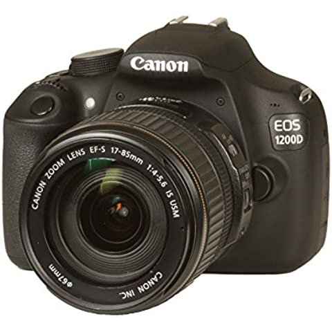 Canon EOS 1200D SLR-Digitalkamera (18 Megapixel APS-C CMOS Sensor, Full HD, 7,6 cm (3 Zoll) Display) Kit inkl. 17-85 mm EF-S Objektiv,