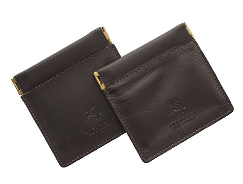 Visconti Leder Münzbörse, Zweierpack, Snaptop CP7 Schokolade
