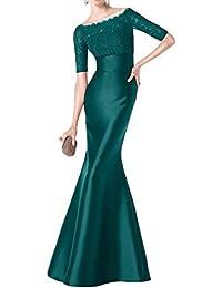 Toskana novia Vestidos de noche de glamour Mermaid largo satén con punta para ropa Fiesta novia