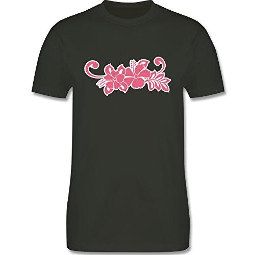 Blumen & Pflanzen - Blumen - Herren Premium T-Shirt Army Grün