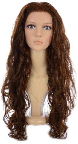 Hair By MissTresses Longue Bouclée Glamour Lace Front Perruque, Brunette/cuivre