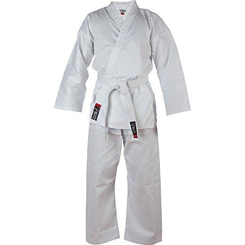 Erwachsene leicht Karate Blitz Sport Karateanzug GI, Weiß weiß 200 cm (Für Karate-gi Erwachsene)
