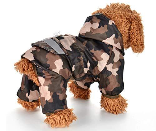 Pet Palace Forces Hunde-Regenmantel für Treue und ausübliche Hunde, inkl. LED-Warnschild