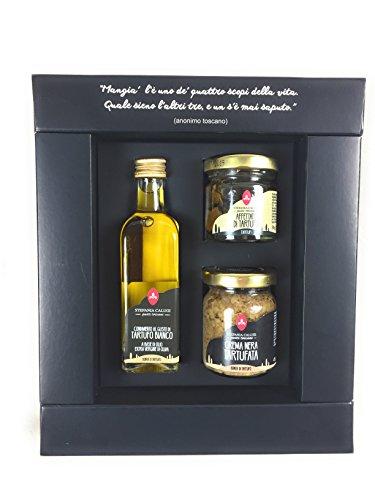 Regalos Gourmet con Trufa by tryEataliano | Regalo Gourmet con Salsas, Aceite Trufa, Crema Trufa Negra, Trufa Negra | Cesta Regalo para todas las ocasiones