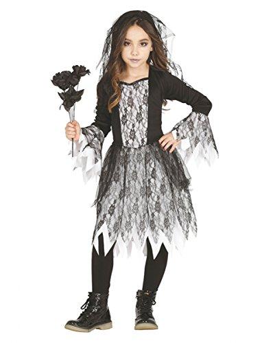 Trendiges Gothic Ghost Mädchen Kostüm für Halloween und Motto Parties M