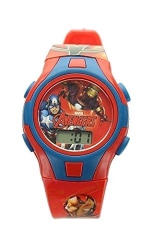 Children's Marvel Avengers Digital Wrist Watch in Character Money Box Tin