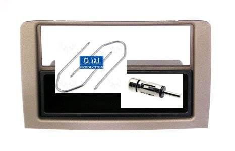 G.M. Production - 2266 +153+BLK - Mascherina supporto autoradio monitor Doppio 2 Din L. Musa - Pietra Satinata