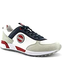 Colmar Travis Originals White Bianco Scarpe Uomo Sneakers Lacci Pelle 46 4ee85325f0e
