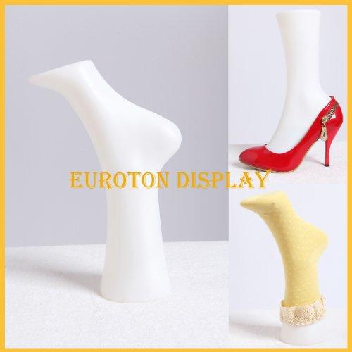 Euroton Dekofuß Deko Fuß Füße für Socken Dekobein Schaufensterpuppe (Höhe Schuhe Mitte Socken)