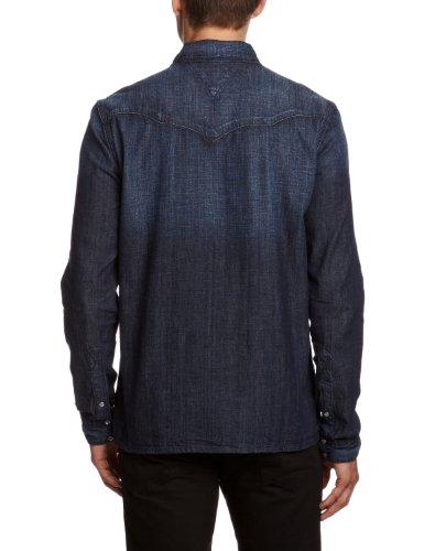 Hilfiger Denim Herren Slim Fit Freizeithemd Gratton MOND Blau (MONTREAL DARK 938)