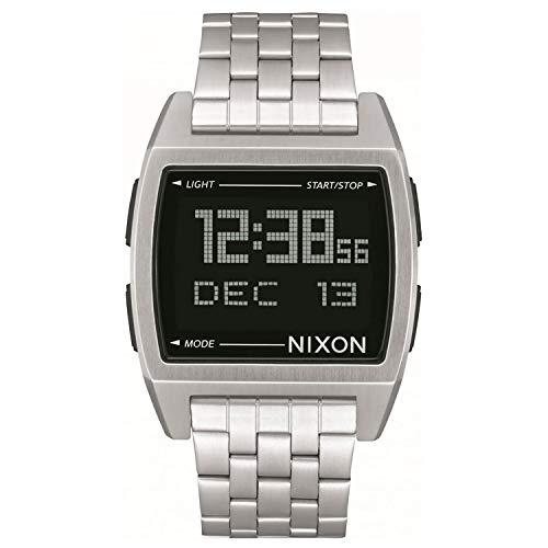 Nixon Herren Digital Uhr mit Edelstahl Armband A1107-000-00