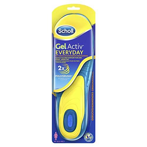 Scholl GelActiv Einlegesohlen Everyday für Freizeitschuhe von 35,5-40,5 - Verbesserter Komfort durch doppelte Polsterung - 1 Paar Gelsohlen