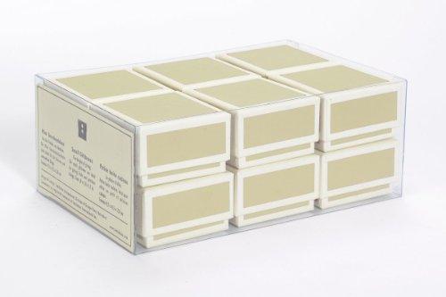 Semikolon (352040) 12 kleine Schachteln im Set chamois (sand)   Ideal als Geschenkboxen, Geschenkschachteln   Boxen im Format 4,5 x 4,5 x 2,8 -