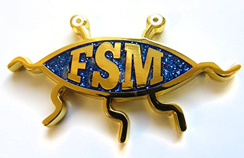 Flying Spaghetti Monster (FSM) Geocoin gold