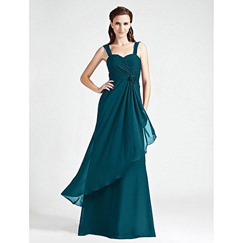 kekafu Mermaid / Trompete V-Ausschnitt Sweep / Pinsel Zug spitze Tüll prom Kleid mit Perlen von TS, Tinte blau, US8/UK 12 / EU 38 (Tinte Mint)