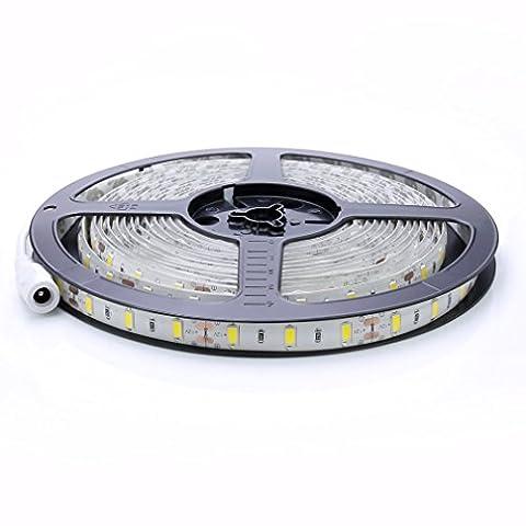 Auralum® Ruban à LED Strip Flexible Bande 5M 72W SMD 5630*300 Leds IP65 Imperméable Blanc Froid Ruban à LED
