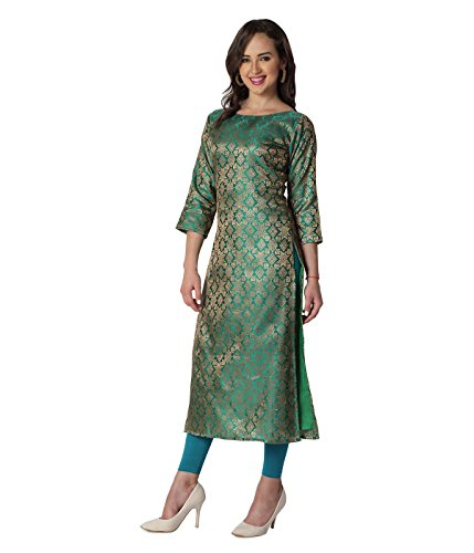 Beautiful Indian Kurti perfect for traditional functions and casual evenings. (Green, Medium)
