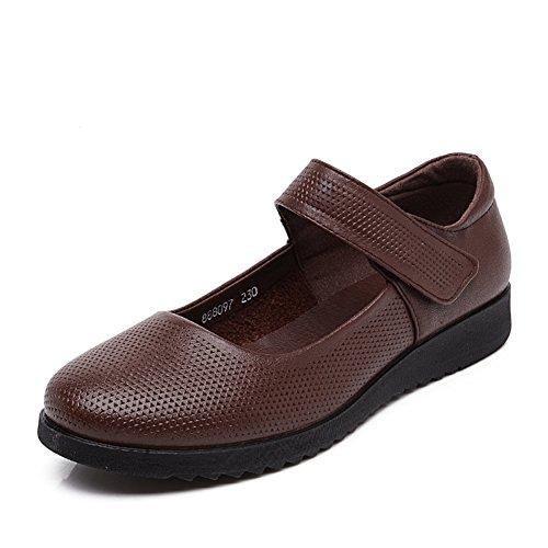 grande taille chaussures asakuchi mère/Fin des souliers pour dames doux/Chaussures de femmes d'âge mûr/Chaussures plates âgées/Chaussures de travail B