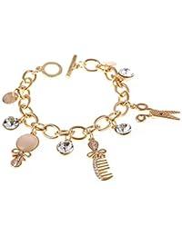 4fbb92606ee5 MHOOOA Moda Rare Charm Opal Tijeras Peines Pulseras para Las Mujeres  Brazalete Cuff Silver Gold