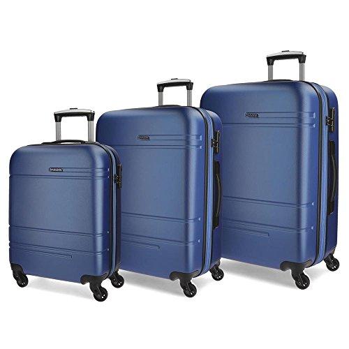 Movom Matrix Juegos de maletas, 79 cm, 221 litros, Azul