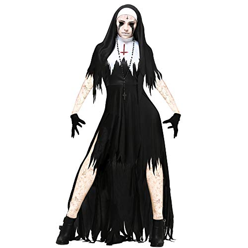 Baby Kostüm Zombie Mutterschaft - PRTQI Halloween-Kostüm Erwachsene Horror-Blutige Cosplay Nun Zombie-Kostüm,XL
