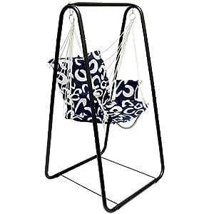 h ngesesselgestell mit h ngestuhl schaukel f r kinder und erwachsene komplettset metall gestell. Black Bedroom Furniture Sets. Home Design Ideas