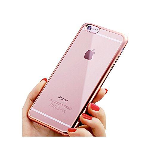 iPhone 6/6S Fall, TNI 2016Stilvollen Chrom Farbe Bumper mit Transparent Cover Rückseite iPhone 6/6S Fall, Chrome Rose Gold Chrome Iphone Fall