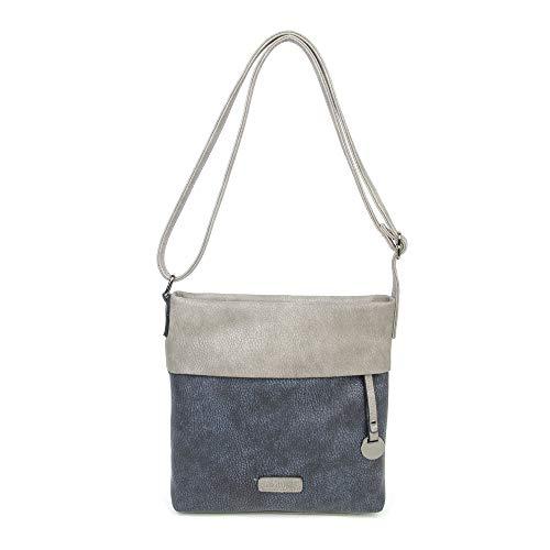 CASAdiNOVA - Damen Umhängetasche - Crossbody Bag mit Schulterriemen - PU Leder Schultertasche - Messenger Handtasche mit Reißverschluss (Large, Blau)