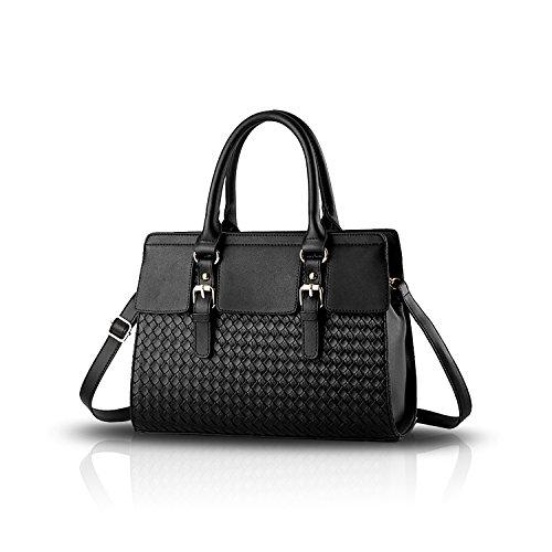 Sunas nuova ondata di sacchetti di piazza sacchetto di spalla del messaggero delle signore / borse delle donne nero