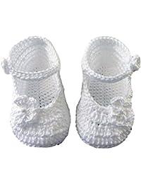 Patucos bebé Merceditas hecho a mano 100% algodón (Primavera, verano, otoño)