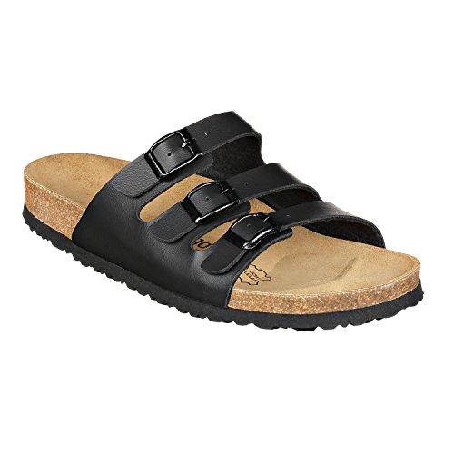 JOE n JOYCE Paris Synsoft. La sandale espagnole en matières 100% naturelles - étroite - Black